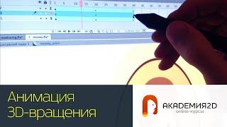 Создаем анимацию монетки, эффект 3D вращения в Adobe Flash.