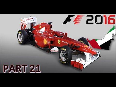 F1 2016 Career Mode Abu Dubai Grand Prix PART 21 FERRARI w\Commentary