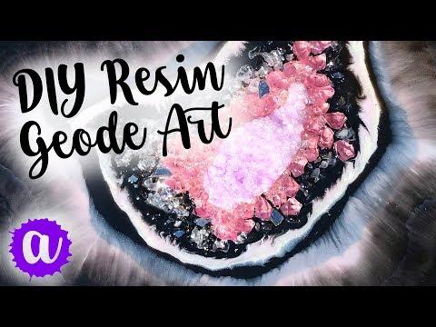 Resin Geode Art DIY (Free Form Style)
