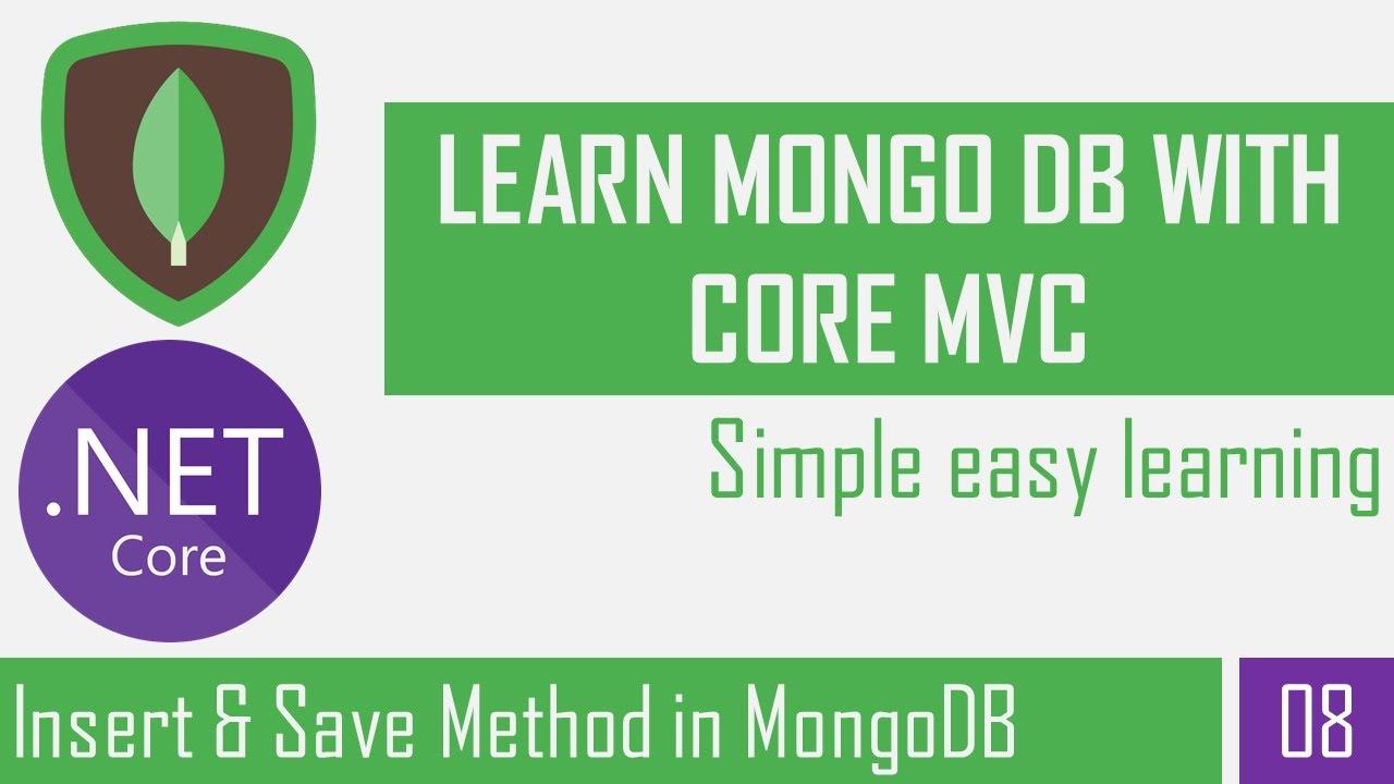 Insert & Save method in MongoDB | Inserting Document | CRUD Operation in MongoDB