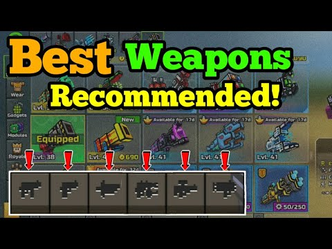 RECOMMANDED Weapons In All Categories  |  Pixel Gun 3D Best Weapons