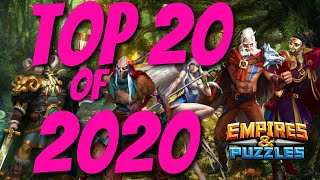Top 20 Heroes of 2020 in Empires and Puzzles