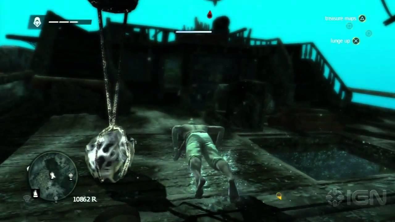 Assassin's Creed 4 Easter Egg - Giant Squid - YouTube
