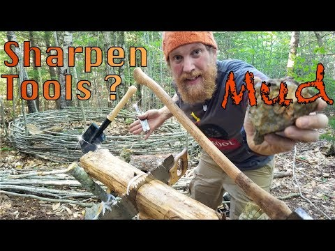 How to sharpen your knife and tools without a  sharpening stone  (87 days episode 9)