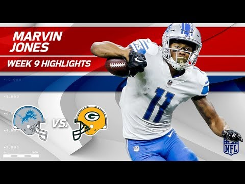 Marvin Jones' 2 TD Night vs. Green Bay! | Lions vs. Packers | Wk 9 Player Highlights