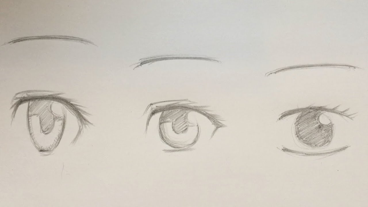 How To Draw Anime Female Eyes 9 Ways [Slow Narrated Tutorial]