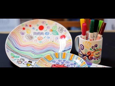 Porselen Kalemi Ile Kupa Bardak Boyama Youtube