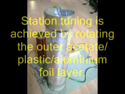 How to make a household item tuneable crystal radio