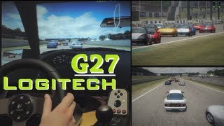 Live for Speed S2 with Logitech G27 - gameplay, GT5 graphics mod, online multiplayer race, racing.