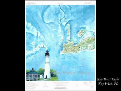 Florida Lighthouse Map Prints