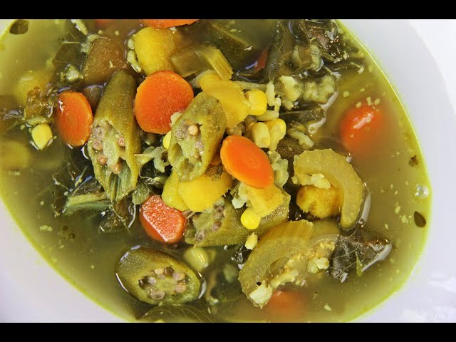 Vegetable Wild Rice Soup (#vegan #ital) | Caribbeanpot.com