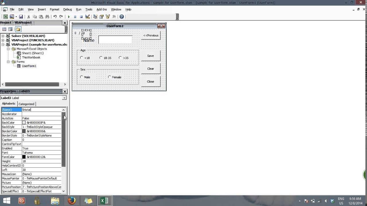 Excel Userform Label New Line