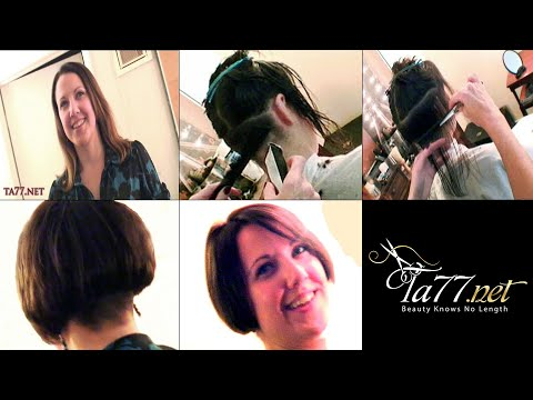 Free TA77.net video - Brianna SX (2009) Brianna gets a short bob w/ buzzed nape