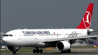 Turkish Airlines Airbus A330 Blasting out of Manchester Airport