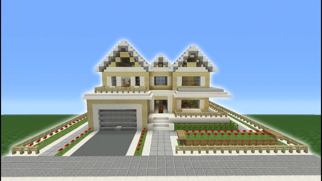 Minecraft Tutorial How To Make A Suburban House 8 Youtube