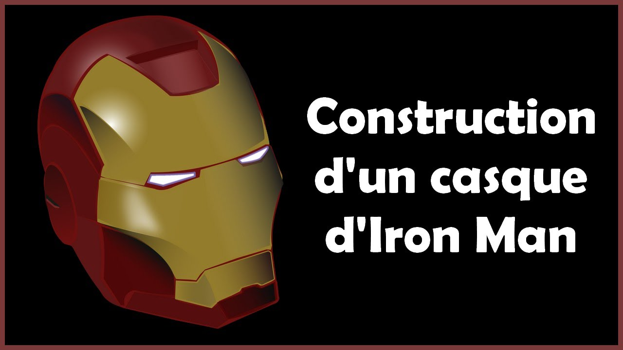 construction d 39 un casque d 39 iron man v 1 youtube. Black Bedroom Furniture Sets. Home Design Ideas