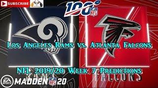 Los Angeles Rams vs. Atlanta Falcons   NFL 2019-20 Week 7   Predictions Madden NFL 20
