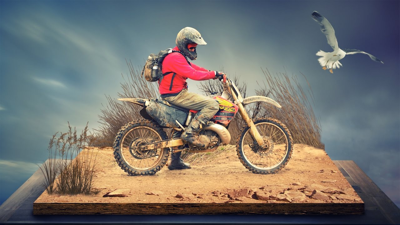 Dirt bike photo manipulation | photoshop tutorial cs6/cc ...