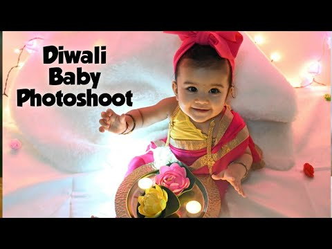 Baby Photoshoot Diwali Theme Baby Photoshoot At Home Diwali Special Baby Photography Youtube