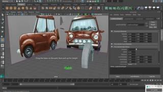 MAYA урок Моделирование мультяшного автомобиля часть 1