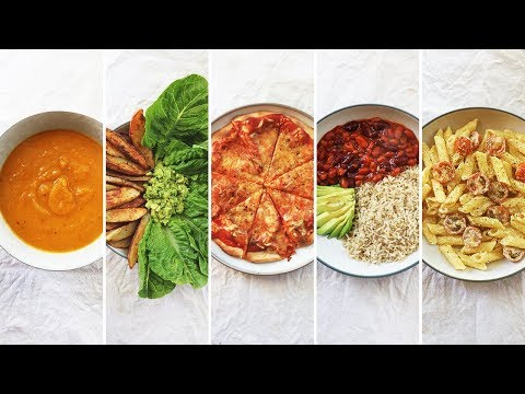 3 INGREDIENT VEGAN MEALS UNDER £1.50 ($2) | 5 Cheap & Easy Student Recipes