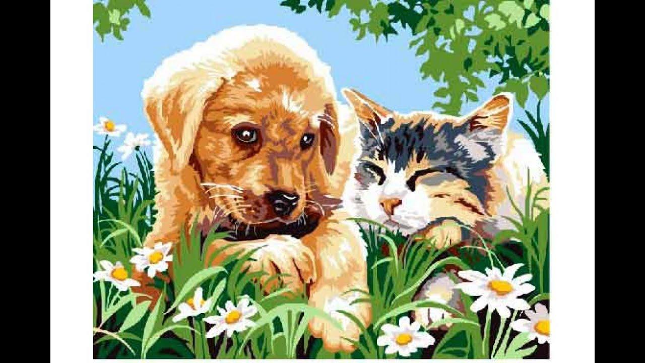 Котенок Лютик и щенок Шарик. Детская анимационная сказка ...