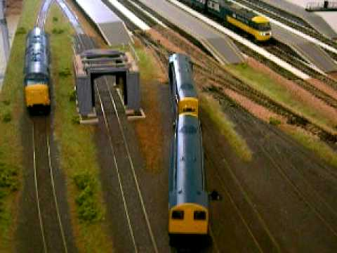 Bachmann and Hornby and Heljan model trains running on my model railway today 23/1/2010
