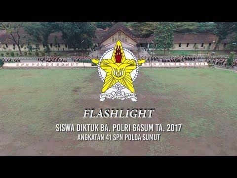 Flashlight Siswa Diktuk BA. POLRI T.A 2017 Angkatan 41 SPN POLDA SUMUT