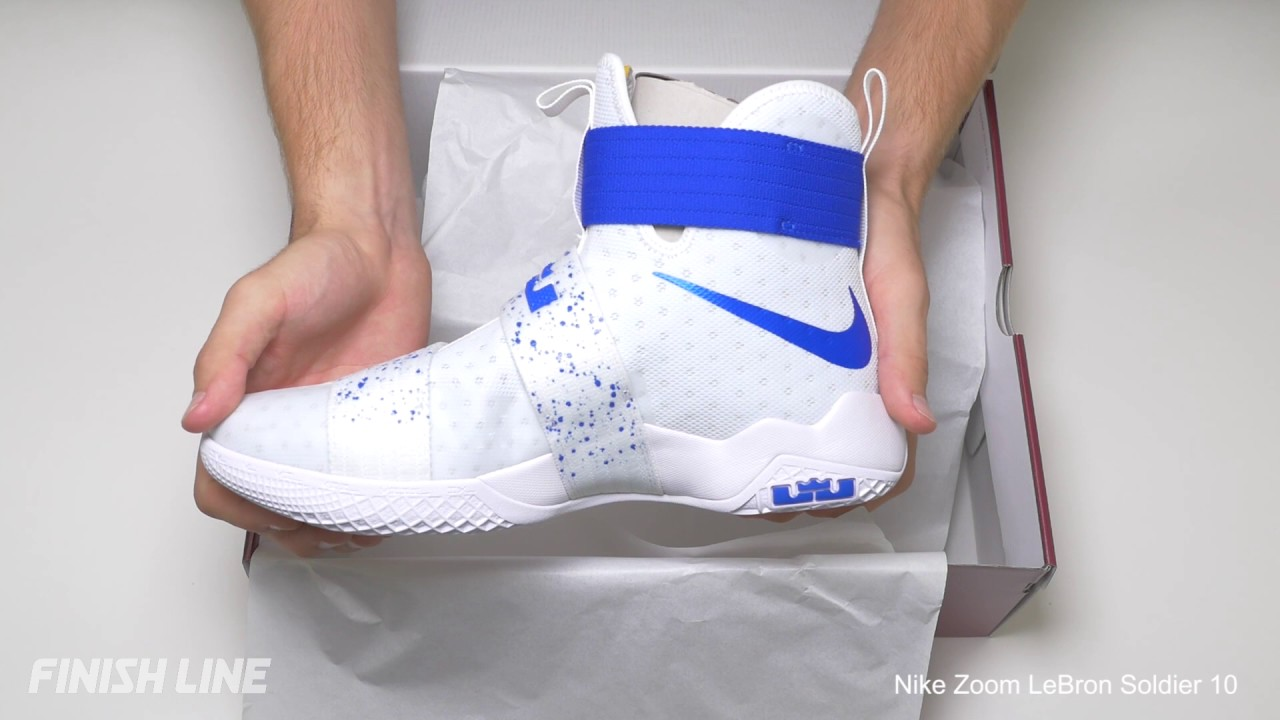 reputable site 979ce 791fb Lebron Soldier X White Blue Unboxing