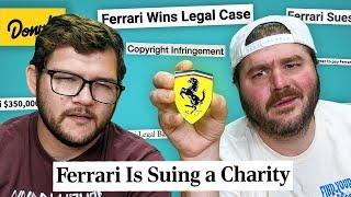 Ferrari loves to sue people
