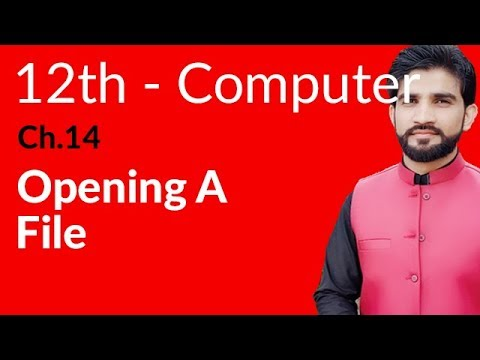 ICS Computer Part 2, Ch 14 - Opening A File - Inter Part 2 Computer - 동영상