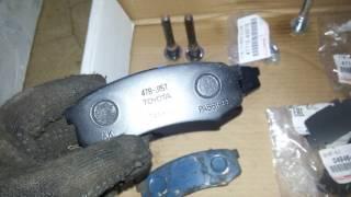 Lexus Gx470.  Замена задних тормозных дисков и колодок.
