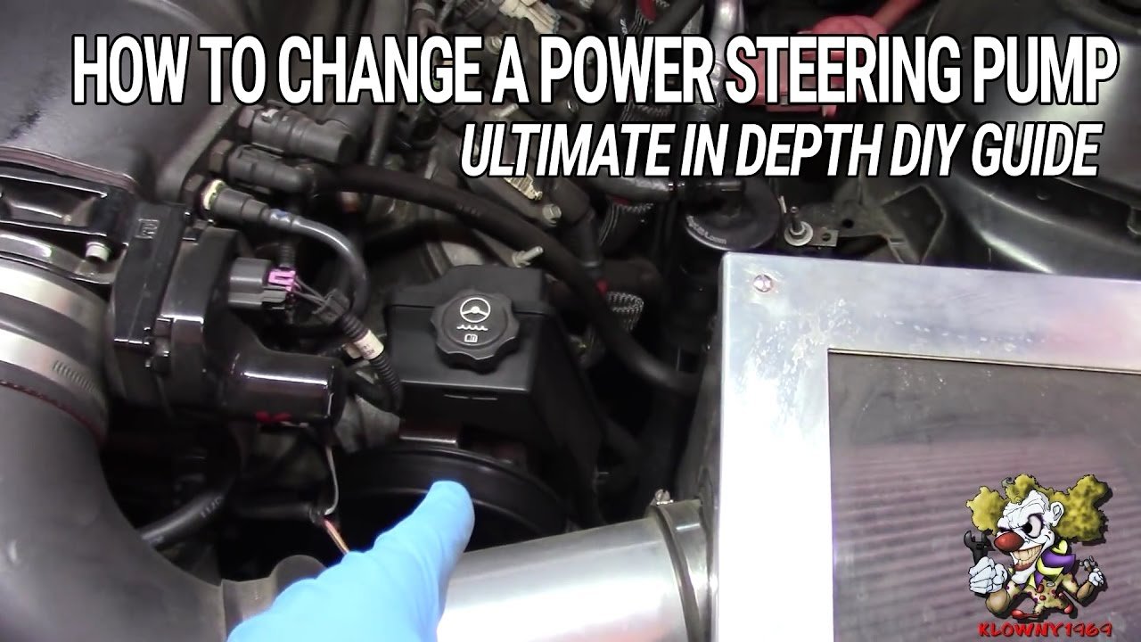 How To Change A Power Steering Pump Diy In Depth Ultimate 1983 Firebird Fuse Box Guide
