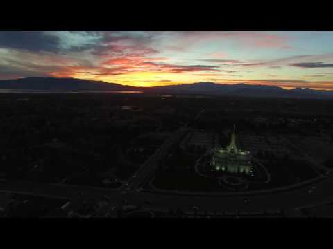 Sunset drone flight - Pleasant Grove, UT