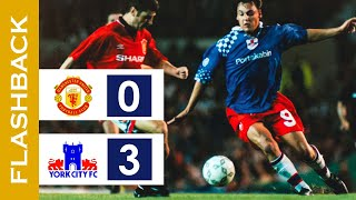 The Biggest Cup Giant Killing in History | Manchester Utd 0-3 York City | Coca-Cola League Cup 1995