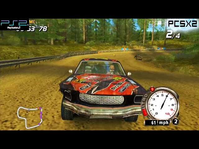 Flatout - PS2 Gameplay 1080p (PCSX2)