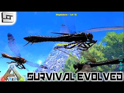 ARK: Survival Evolved - MEGANEURA, TRACKERS, and FEEDING TROUGH E43 ( Dragonfly / Gameplay )
