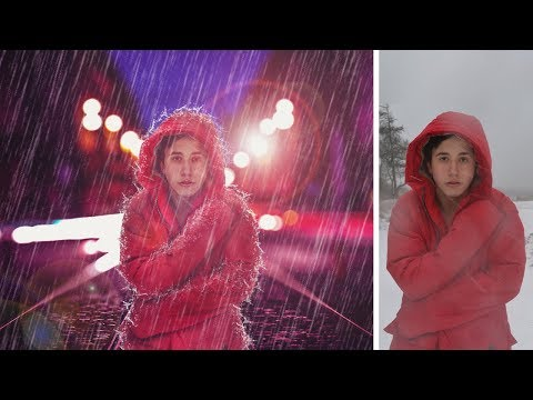 Rain in city photo manipulation | photoshop tutorial cs6/cc