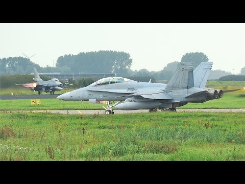 20min+ of Epic fighter jet action! FWIT and EMBOW participants takeoff and land at Leeuwarden AFB