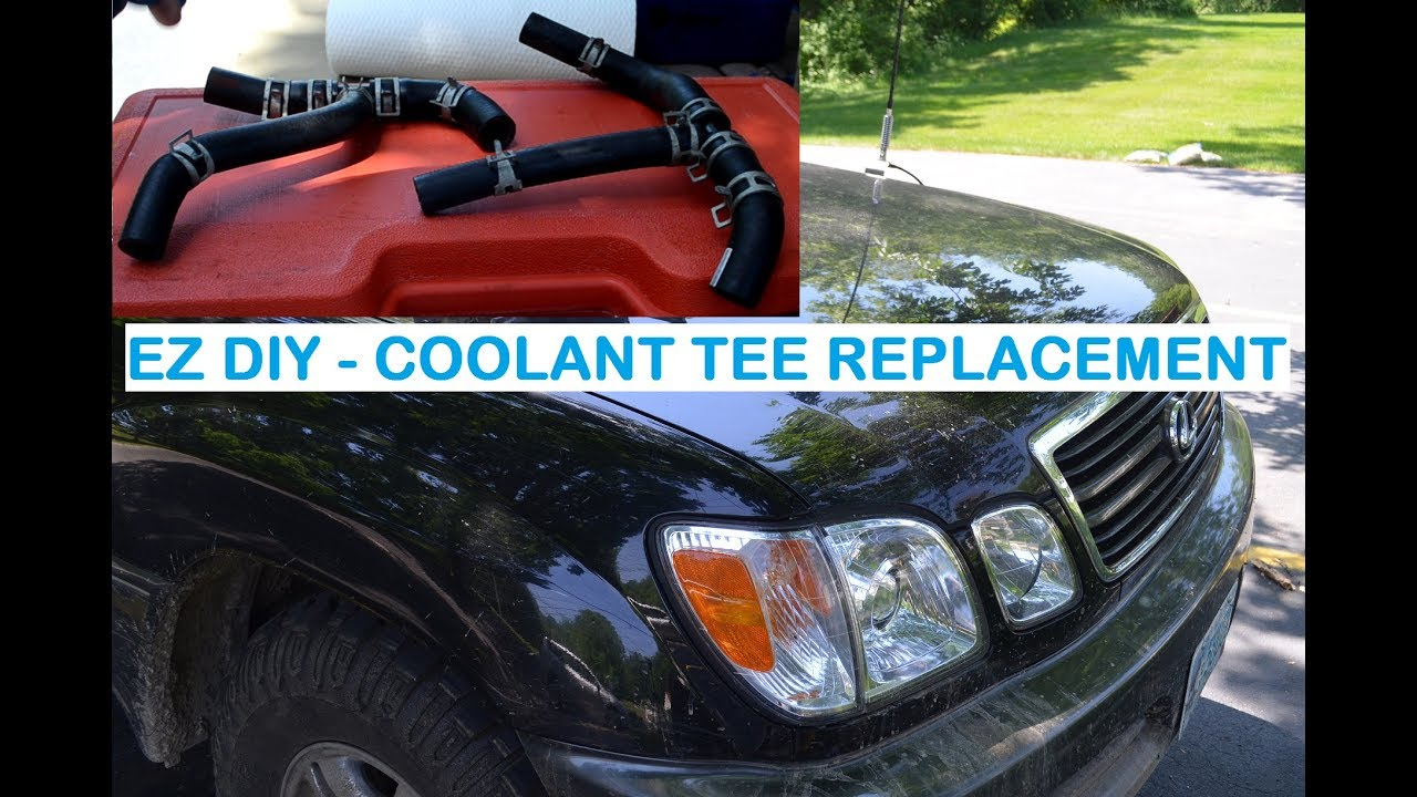 medium resolution of how to engine coolant tee replacement lexus lx470 toyota land cruiser uzj 100