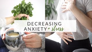 DECREASING ANXIETY & STRESS | mindset, lifestyle + nutrition tips
