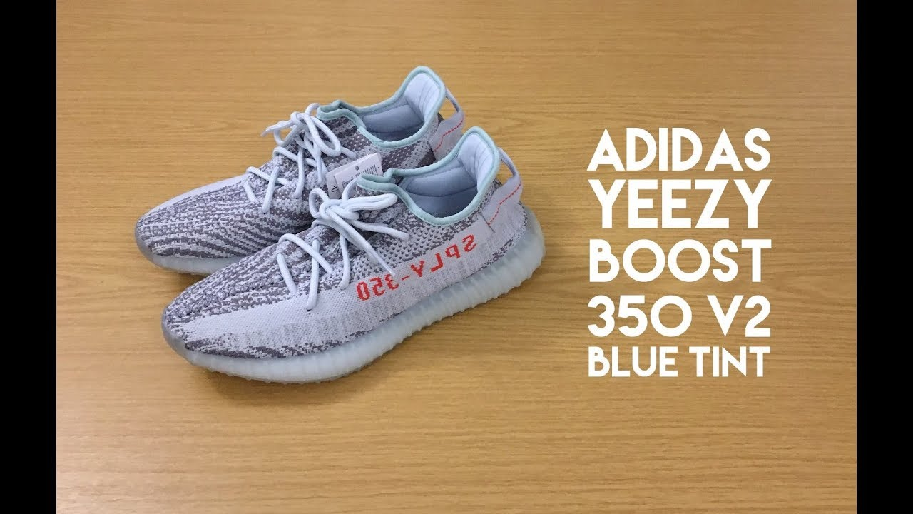 1ed9b1636 Adidas Yeezy Boost 350 V2 Blue Tint - Review - YouTube