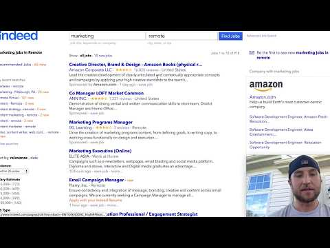 How to Find Remote Jobs on Indeed - YouTube