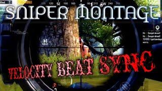 Sniper Montage | Velocity | Beat Sync ✓ PUBG MOBILE
