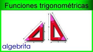 Hallar catetos si conocemos la hipotenusa y un ángulo Funciones trigonométricas 362