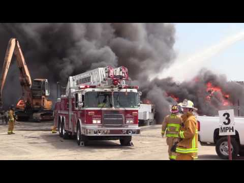Otay Mesa: Ecology Auto Center Fire 04092017