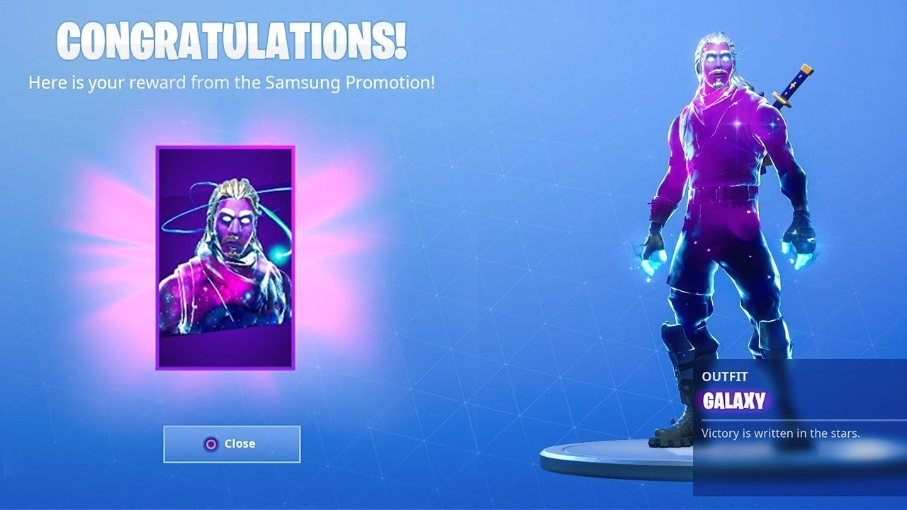 It worked i unlocked the galaxy skin in fortnite for 20 youtube - Fortnite galaxy skin free ...