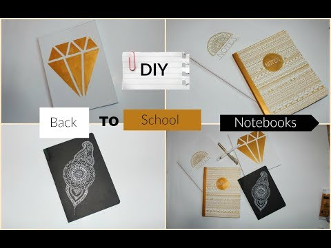 4 simple DIY back to school Notebooks