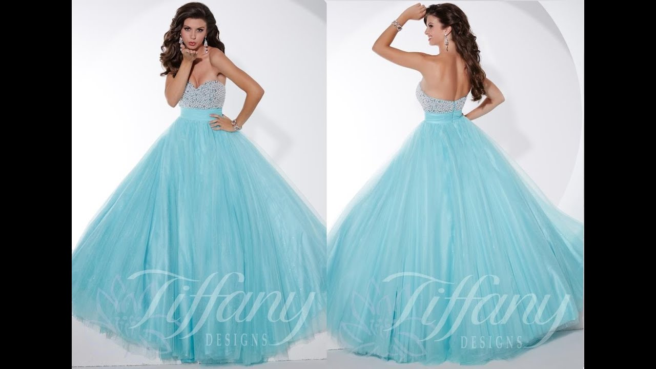 Tiffany Prom Dress 61139 from Peaches Boutique, Chicago, IL - YouTube