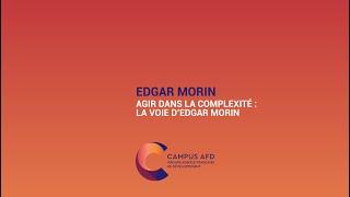 Edgar Morin : Agir dans la complexité, la voie d'Edgar Morin